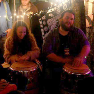Sometimes I play congas with Zach Deputy.