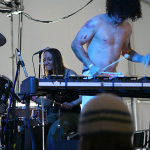 Performing at Bear Creek Music Festival 2013 with percussion beast superstar Mike Dillon.